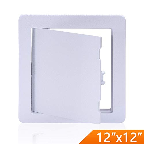 (Suteck Plastic Access Panel Drywall Ceiling - 12 x 12 Inch White Access Doors)