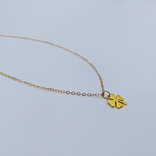Shamrock Jewels - Gina Fiori Jewels- Dainty Four Leaf Clover Pendant Necklace In Gold, Lucky Charm, Irish Luck, Shamrock Necklace.- Simple, Cute, Dainty Jewelry Handmade in Las Vegas