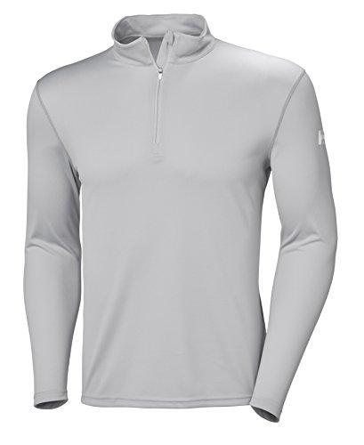 Helly Hansen 48365 Men's Tech 1/2 Zip Sweatshirt, Light Grey - XXX-Large