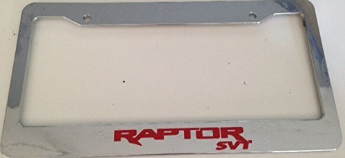 Raptor Svt Racing - Automotive Chrome with Red License Plate Frame - Off Road Mud