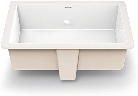 DECOLAV 1482-CWH Lilli Classically Redefined Rectangular Undermount Lavatory Sink, White