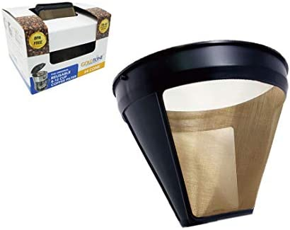 GOLDTONE Reusable No.4 Cone Style KRUPS Reusable Coffee Filter Replaces Your F05342 Permanent Coffee Filter for KRUPS Machines and Brewers