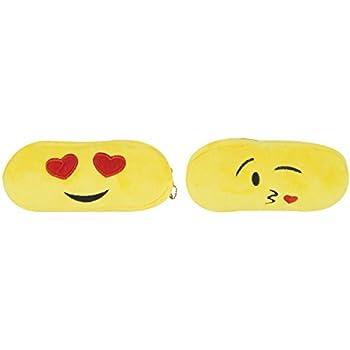 Amazon.com: Chords Pack Of 4 Plush Emoji Pencil Pouch Pencil Case ...