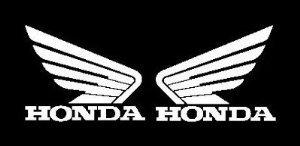 Honda Wing (set of 2) decal sticker, White - 2 Decal Bumper Sticker