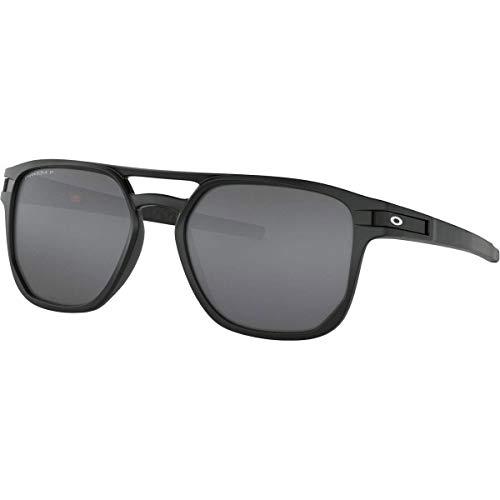 Oakley Men's OO9436 Latch Beta Square Sunglasses, Matte Black/Prizm Black Polarized, 54 mm (Oakley Sonnenbrille Damen Polarisiert)