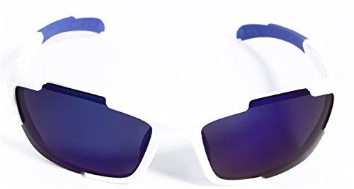 Hulislem Polarized Sport Sunglasses (White, Blue) Tens Ac...