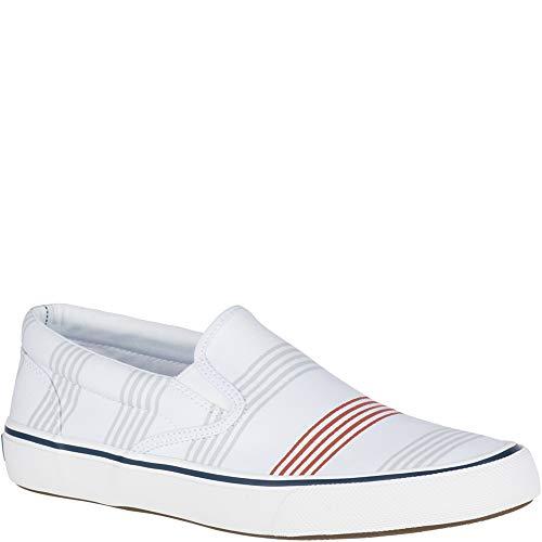 (Sperry Top-Sider Striper II Slip On Oxford Shirt Sneaker Men 7.5 Stripe)