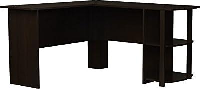 Dakota L-Shaped Desk with Bookshelves