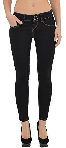 femmes en J181 J182 slim pantalon jean femme femme skinny Jeans noir Jean qxRv1t