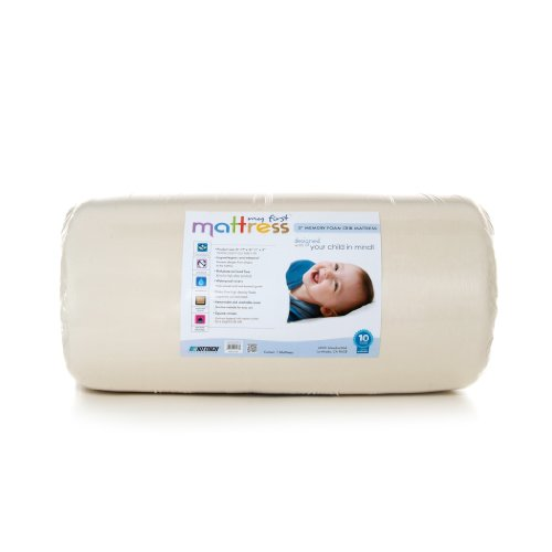My First Mattress Mattress Premium Memory Foam Crib Mattress with Removable Waterproof...