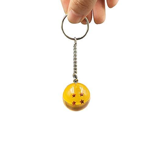 FleurVC 4 Star Ball Keychain Round Ball Keyring Pendants