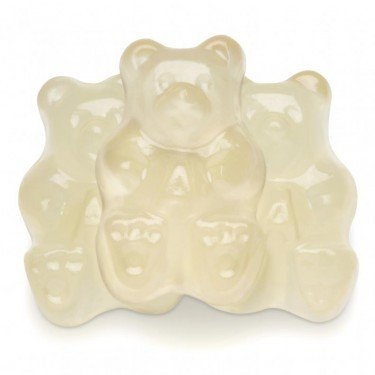 FirstChoiceCandy Albanese Gummy Bears (White Pineapple, 1 LB) -