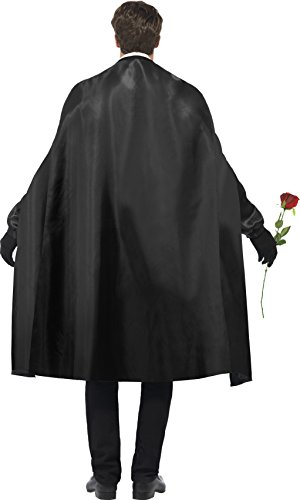 Smiffy's Men's Dark Opera Masquerade Costume, Cape, Mock Shirt, Mask, Gloves and Faux Rose, Carnival of the Damned, Halloween, Size M, 24574 by Smiffy's (Image #2)