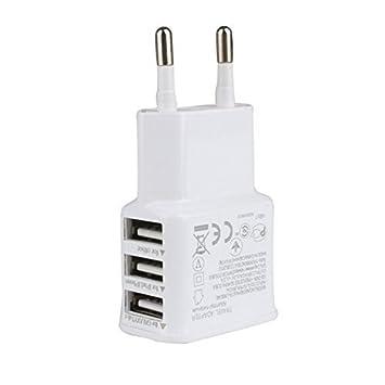 COOSA 3 puertos USB 5V inteligente Cargador Adaptador de corriente de la UE Plug
