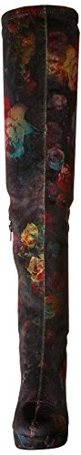 Madden Girl Womens Groupie Over The Knee Boot Black Floral