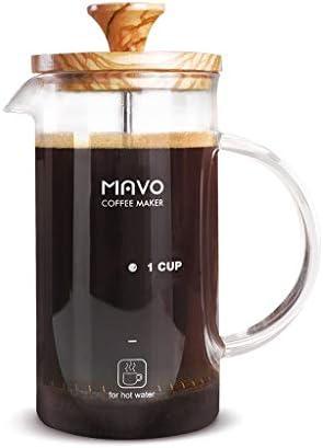 コーヒープレス フレンチプレッシャーコーヒーメーカーオリーブウッドコーヒーメーカーグラスプレッシャーポットティーメーカー350 / 600ml (サイズ さいず : 600ml)