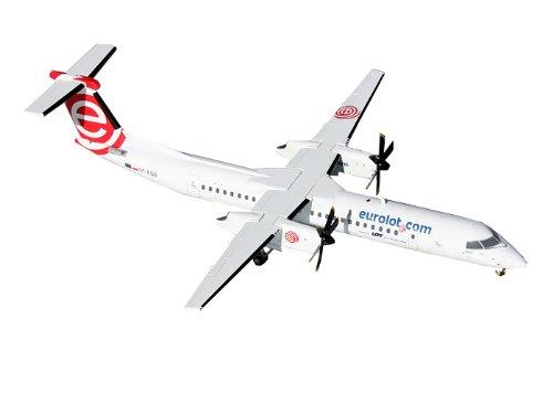 Gemini Jets 8-Q400 Eurolot Dash Diecast Aircraft, 1:200 Scale