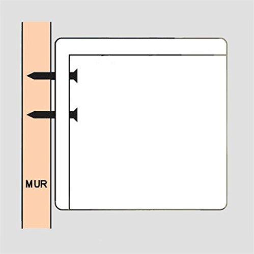 KIMEX 041-3405 Ecran de Projection Manuel 2,40 x 1,80m Format 4//3