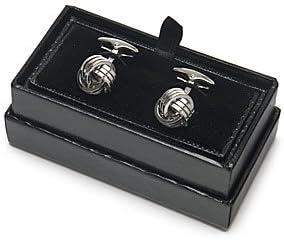 HAWES /& CURTIS Mens Accessories Jewellery Plain Triple Knot Cufflink Cuff Link