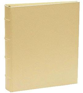 Standard 3-ring Saffiano-Gold eco-leather album with slip-in pocket pages by Graphic ImageTM - 4x6