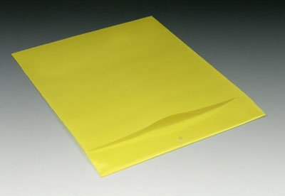 9-1/4'' x 12'' Polyethylene Routing Envelope w/Slit Opening and Hang Hole - Yellow (6 mil) (500 Envelopes/Case) - AB-58-201Y by Miller Supply Inc