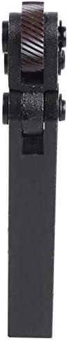 NO LOGO Rändelwerkzeug 1,8 mm Pitch Doppelrad Slant Zähne Rändelwerkzeug for Metal Lathe Handwerkzeugset Heben (Color : Black)