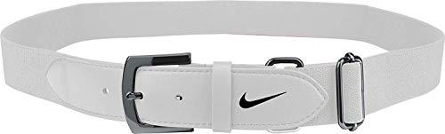 Nike Youth Baseball Belt 2.0 (White/Black, OneSizeFitsMost)