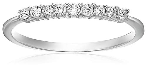 Vir Jewels 1/5 cttw Diamond Wedding Band in 14K White Gold Prong Set Size 4.5