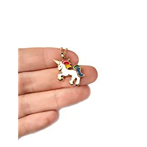 Altitude Boutique Unicorn Necklace Magical Pendant Gift for Girls or for Women Gold Silver Colorful Enamel