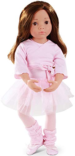 "Gotz Sophie Happy Kidz Ballet 19.5"" Poseable Multi-Jointed Brunette Doll with Brown Eyes"