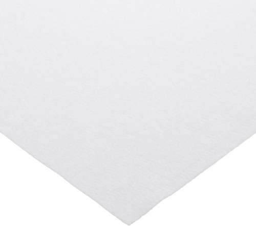 "Hoffmaster 210441 Linen-Like Folded Tablecover, 108"" Length x 50"" Width, White (Case of 24)"