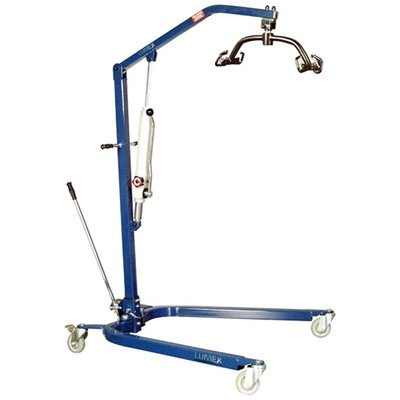 Blue Powder-Coated Hydraulic Lift with Optional Sling Sling: Large size included