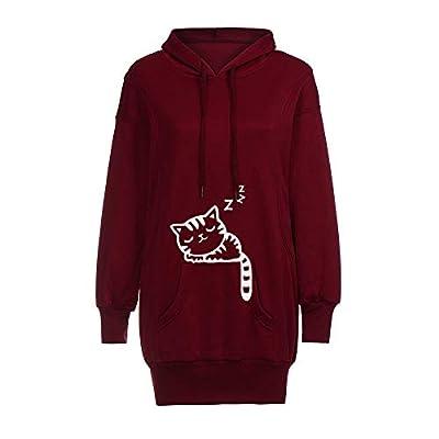 Hoodies for Women Teen Girls Pullover, Jiayit Women Fashion Clothes Solid Color Hoodies Pullover Coat Hoody Sweatshirt Top Blosue Shirt