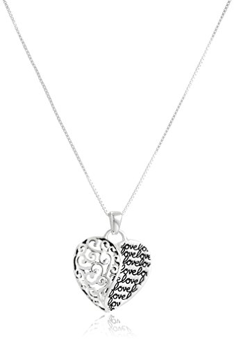 Sterling Flashed Forever Pendant Necklace