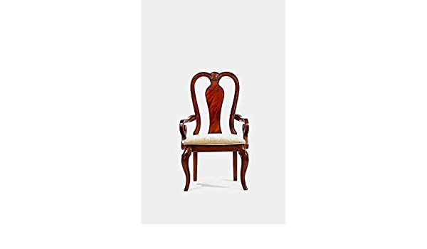 Miraculous Amazon Com Wood Dining Chair With Cotton Upholstery Gamerscity Chair Design For Home Gamerscityorg