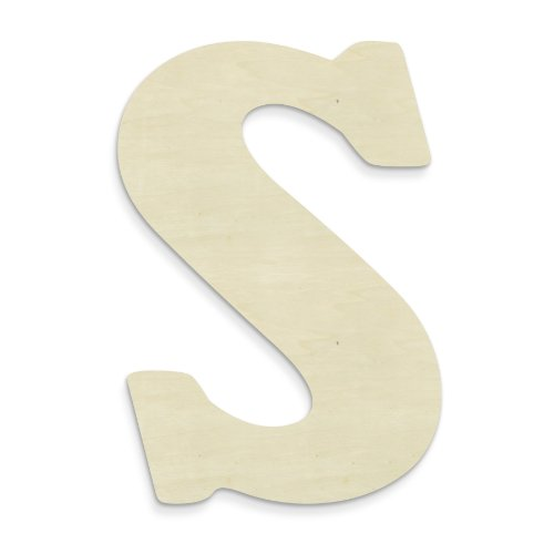 UNFINISHEDWOODCO 23-Inch Unfinished Wood Letter, Large, Letter S