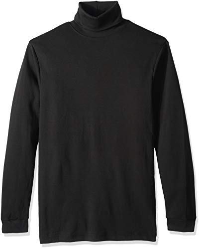 - Clementine Men's ULTC-8516-Egyptian Interlock Long-Sleeve Turtleneck, Black, X-Large