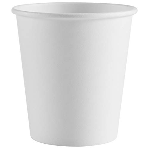 200 pack 4 oz Espresso Paper Cups White Disposable Coffee Cups Hot/Cold Beverage Drinking Cup SPRINGPACK Sampling Paper Cups for Water, Juice, Tea or Coffee On the Go