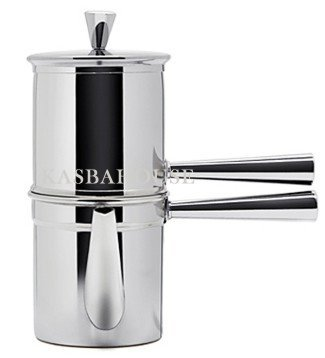 Ilsa Stainless Steel Neapolitan Coffee Maker with Spout, 6 Cup - Ilsa Stainless Steel