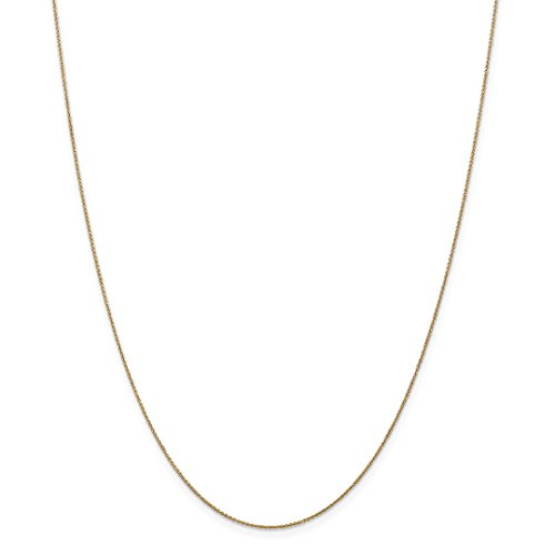 ow Gold .75mm Solid Link Cable Chain Necklace 18 Inch Pendant Charm Fine Jewelry Ideal Gifts For Women Gift Set From Heart ()