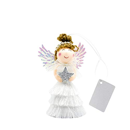 Mayunn Christmas Tree Angel Girl Doll Hanging Plaque Cute Christmas Ornaments Xmas Tags Sign for Party Home Decor Decoration (B)