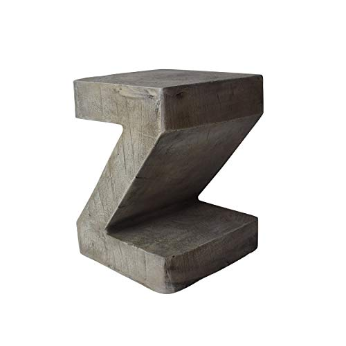 Great Deal Furniture 305834 Jingle Outdoor Weight Concrete Side Table, Light Gray (Side Outdoor Table Concrete)
