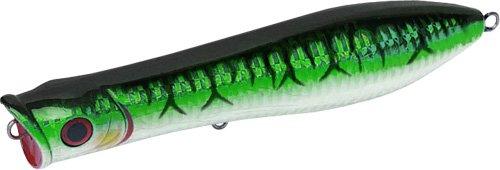 Tsunami Talkin Popper Floating Lure – All Colors/Sizes (Green Mackerel 219, TSTP6F 6″)