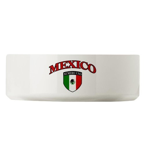 Large Dog Cat Food Water Bowl Mexico Numero Uno Mexican - Numero De Mexico