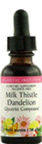 Thistle 1 Ounce Liquid - Eclectic Institute - Milk Thistle Dandelion Compound, 1 fl oz liquid by Eclectic Institute