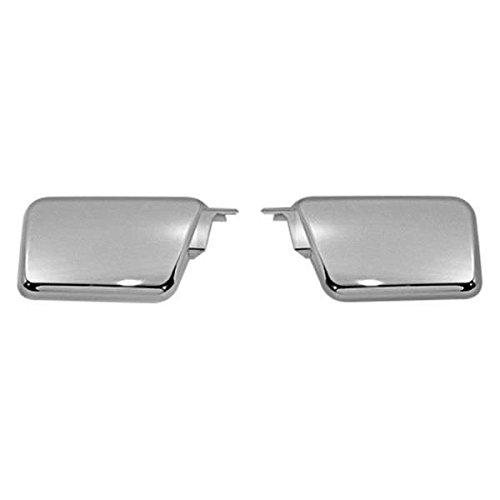 BLACK HORSE HU-H3-VCW Fits Hummer H3 Side Air Intake Hood Vents Covers Chrome Moulding Bezel ...