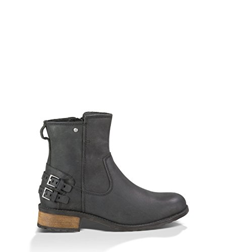 UGG Australia Women's Orion Leather Black Leather Boot 5.5 M