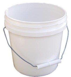 Bucket 1 Gallon - Encore Plastics 10128 Industrial Plastic Pail White with Handle, 1-Gallon