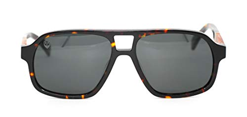 Óculos de Sol de Acetato com Madeira Capone, MafiawooD