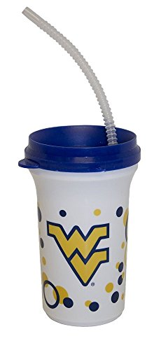 Whirley NCAA Licensed Sippy Cup with a Straw (West Virginia Mountaineers)